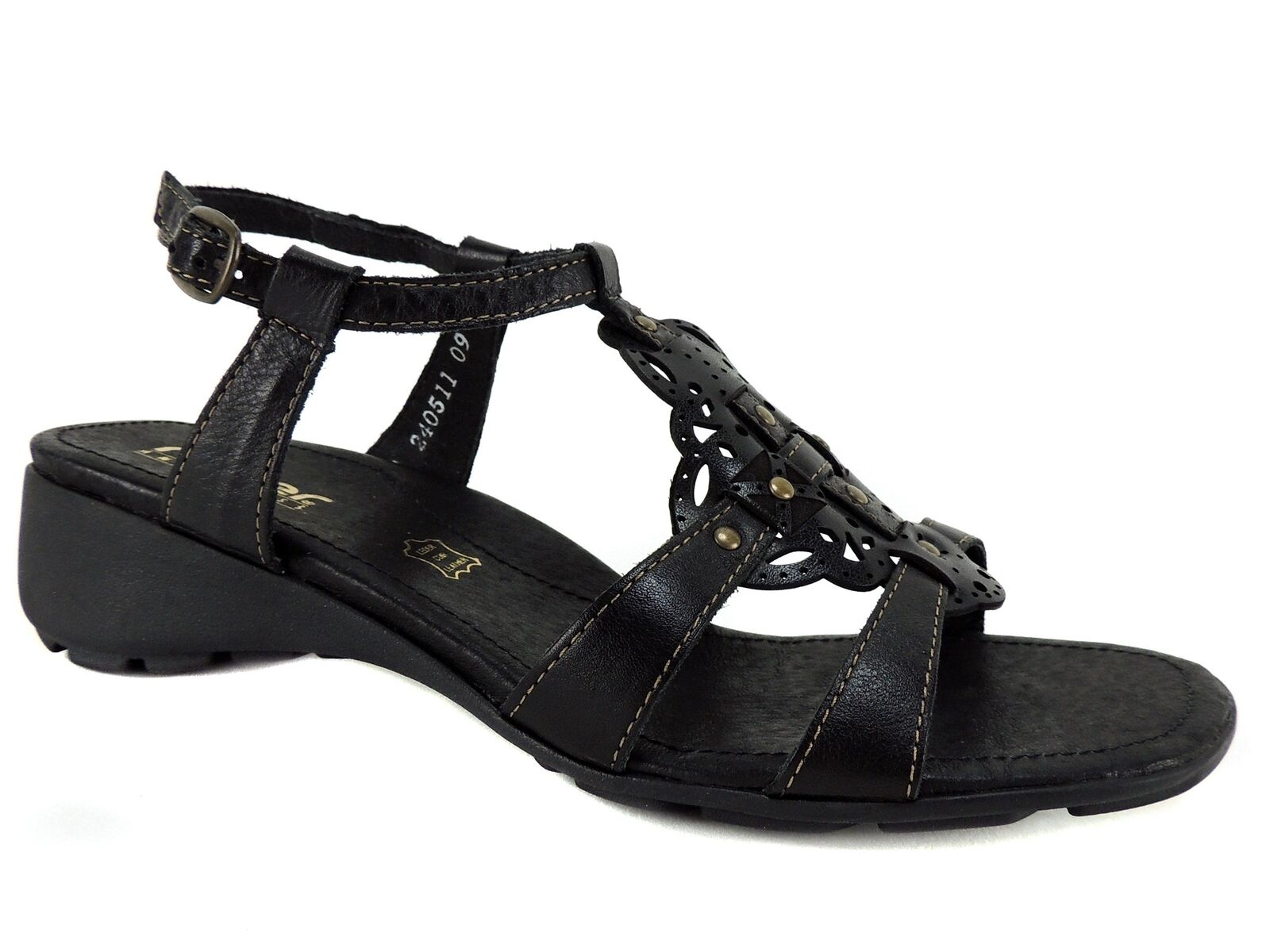 Rockport Women's Cobb Hill Aubrey T Strap Sandals Pewter Leather CBD12PT