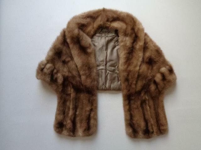 Evans Furrier Brown Mink Stole Cape Bolero Approx Small Medium See Measurements