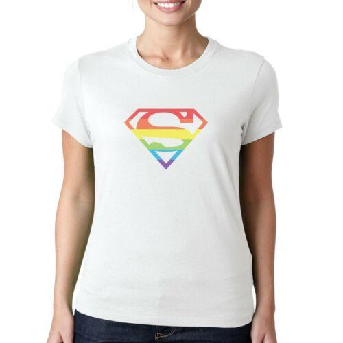 Superwoman T-Shirt Mens//Womens Tee LGBT Superman Rainbow Pride Superhero