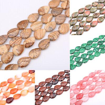 Perle de Pierre Cristal de Roche Quartz longue Goutte 30x10mm 45585500 1pc