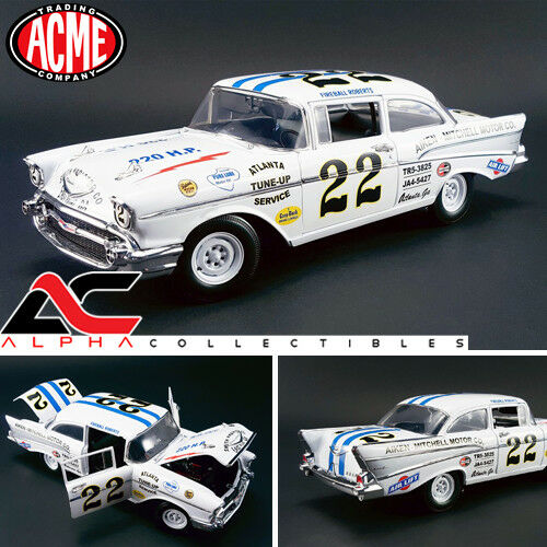 ACME A1807002 1:18 1957 CHEVY BEL AIR FIREBALL ROBERTS  22 NASCAR RACE
