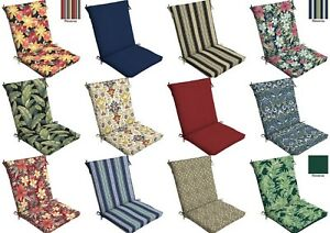 Image Is Loading Outdoor Cushion Seat Pad Set Patio High Back