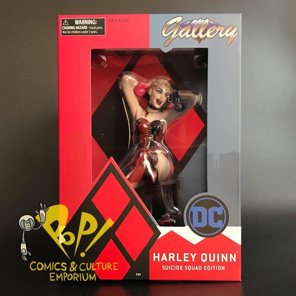 "DC Comics Gallery HARLEY QUINN Suicide Squad 8"" Vinyl PVC Figure Statue DST New"