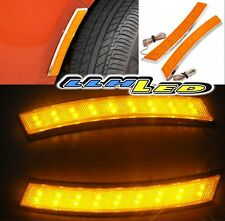 2pc Car Wheel Eyebrow Side Marker Adhesive 18 LED Turn Signal Light Amber