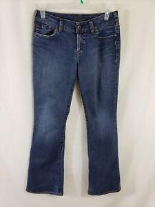 Silver-Jeans-Suki-Womens-Blue-Denim-Size-31-x-35-Boot-Cut-Medium-Wash-Mid-Rise