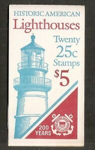 US-SC-BK171-American-Lighthouses-Plate-2-Complete-Booklet-MNH