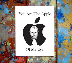 Steve jobs apple happy valentines day i love you greeting card image is loading steve jobs apple happy valentine 039 s day m4hsunfo