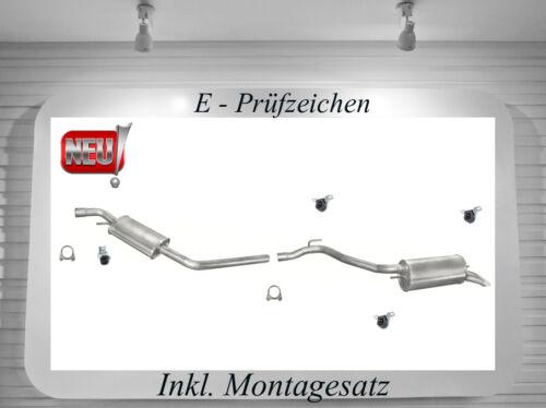 Auspuff VW Transporter T4 2.5 TDI Endtopf Mitteltopf Auspuffanlage  Montagesatz