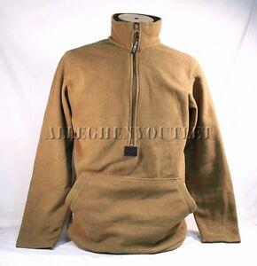 USMC POLARTEC 100 FLEECE 1/2 Zip PULLOVER JACKET Coat Coyote Brown Medium EXC