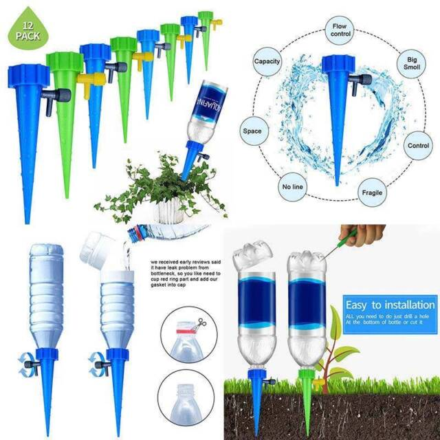 Lot Automatic Watering Irrigation Spike Garden Flower Drip