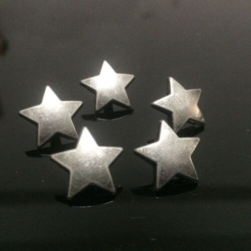 "Concho 5 STAR Metal Rivet Studs 5//8/"" Leather Crafts 6mm post 15mm 1026"