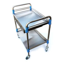 Very Stainless Steel 604086cm Two Layers Drawer Medical Dental Lab Trolley