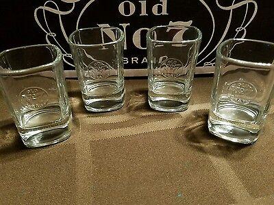 4 jack daniels shot glasses ebay. Black Bedroom Furniture Sets. Home Design Ideas