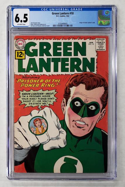 GREEN LANTERN #10 CGC 6.5 ORIGIN GREEN LANTERN'S OATH 1962