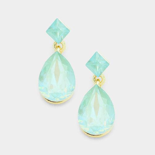 "Lush discreto Oro Cristal De Ópalo Pacífico 1/"" pendientes de cóctel rocas Boutique"