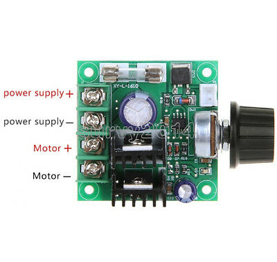 10A 9V~50V  PWM DC Motor Speed Control Switch Controller Volt Regulator Dimmer