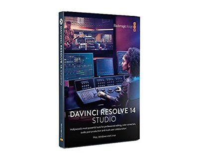 Blackmagic Design Dv Resstud Davinci Resolve Studio 14 License Key Only 9338716005042 Ebay