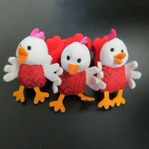 Baby-Toddler-Girl-Rattle-Chick-Toy-Set-Red-for-Valco-Strollers-Handlebars-New