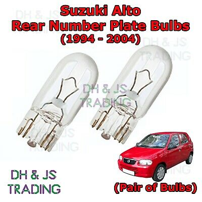 2x Suzuki Alto MK4 Genuine Osram Original Number Plate Lamp Light Bulbs