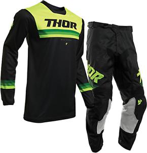 2020 Thor Pulse Pinner Offroad MX Motocross Race Kit Gear Black Acid Youth Kids