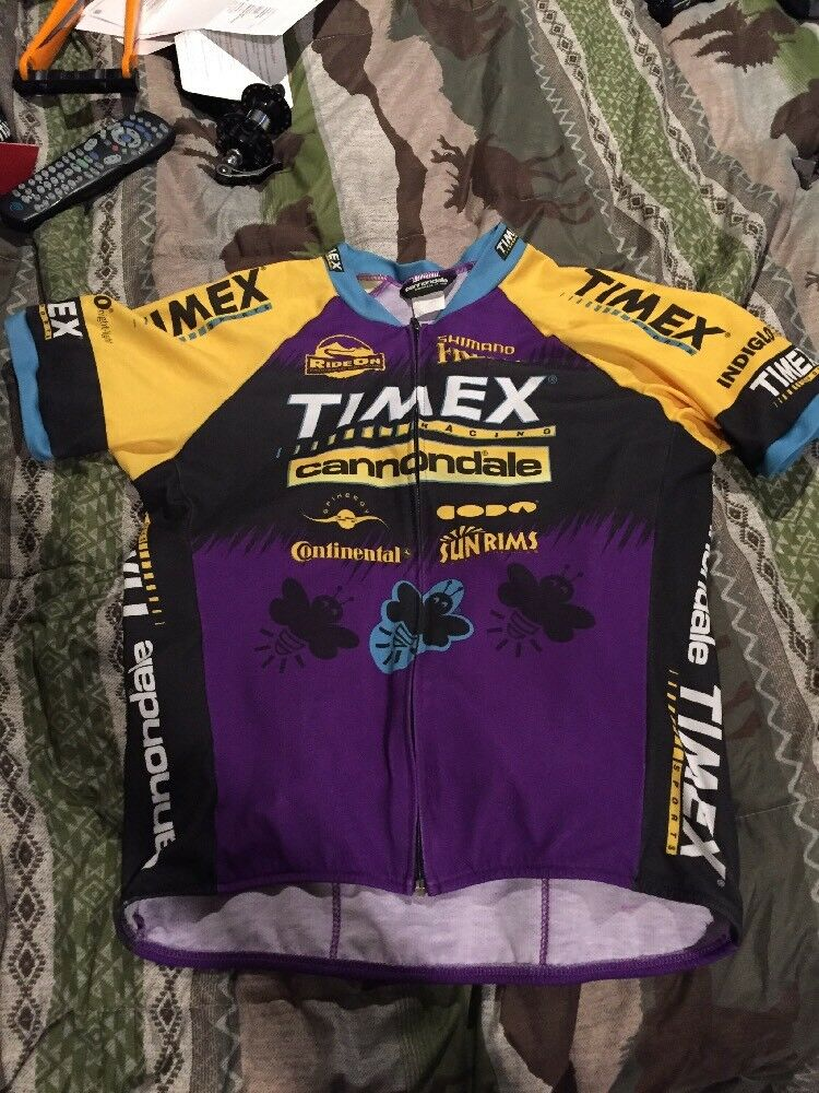 Timex Cannondale Cycling Team Jersey Size Large