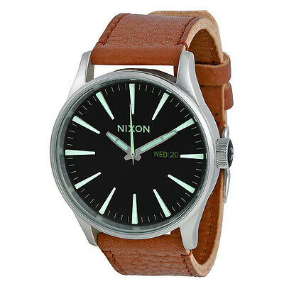 Nixon Sentry Tan Leather Mens Watch A1051037