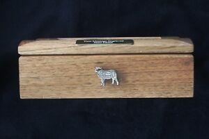 Butcher Sheep Oak Jewellery Box 6x4 Photo Window Personalised Engraving Gift