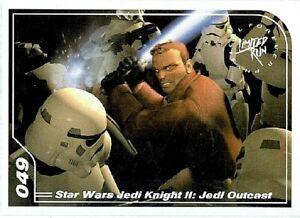 Star Wars Jedi Knight II Jedi Outcast Limited Run Games Silver Trading Card #049