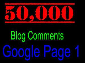 50,000 SEO Website Link Building Backlinks Blog Commenting Backlink + REPORT