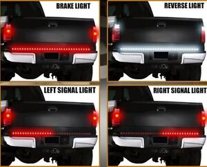 60 red led tailgate light bar strip w reverse light ebay image is loading 60 034 red led tailgate light bar strip mozeypictures Images