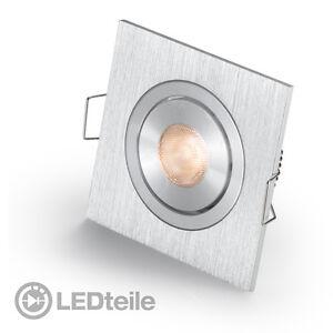 1x3w cree led einbaustrahler warmweiss led einbauleuchte eckig flach lampe 230v ebay. Black Bedroom Furniture Sets. Home Design Ideas