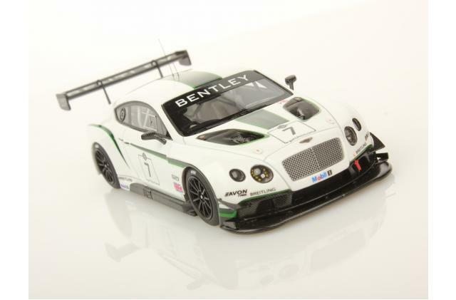 LookSmart Bentley Continental GT3 2013 12 Hours, Metallic Pearl blanc 1 43