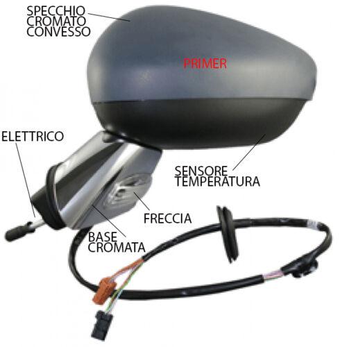 SPECCHIO SPECCHIETTO RETROVISORE DX CITROEN C3 2010 /> ELETT PRIMER BASE CROMATA