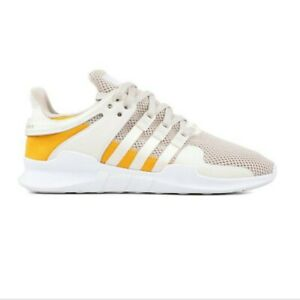 big sale 94b2d 3e551 Image is loading Adidas-EQT-Support-ADV-Off-White-Tactile-YelloW-