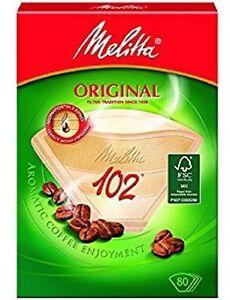 Genuine Original MELITTA 102 Paper Filters Coffee Machine Brown Filter Box x 2