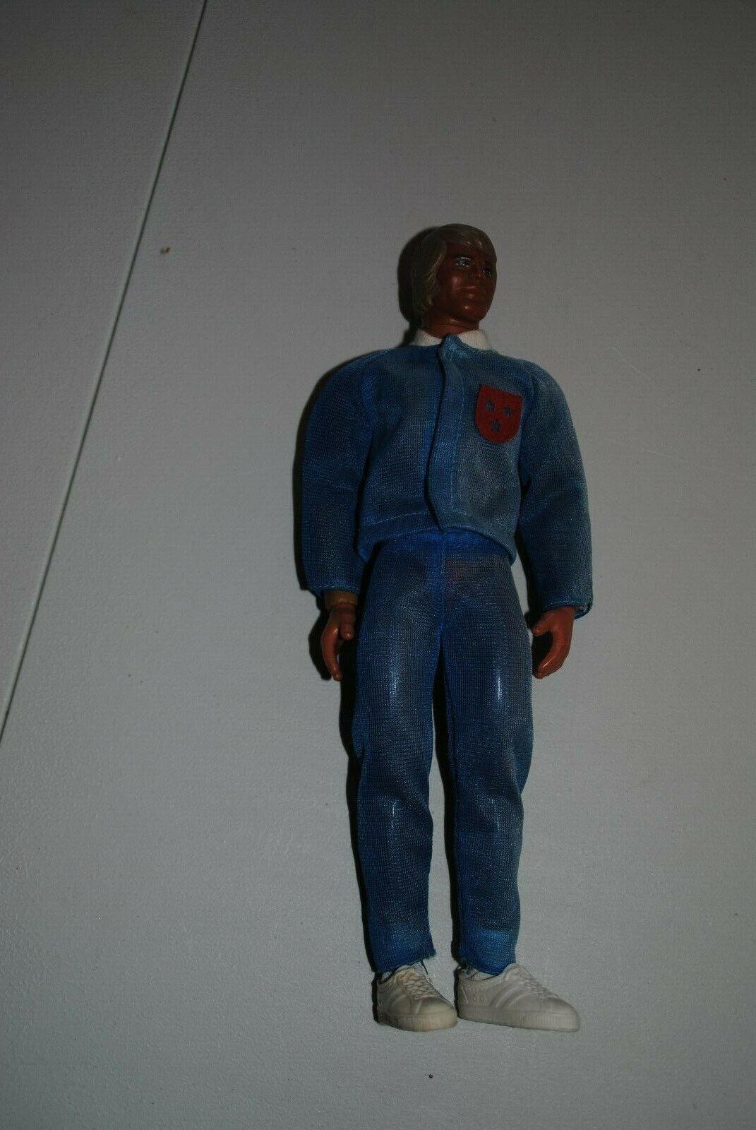 BIG JIM MATTEL     BIG JEFF        SPORTSMAN blueE WARM-UP SUIT     OUTFT  ,NICE