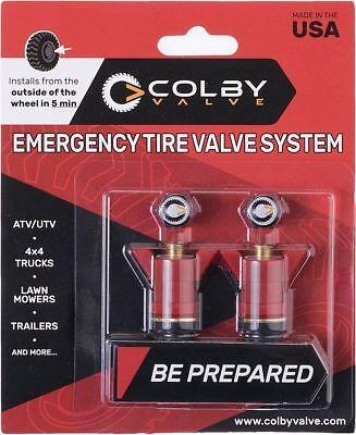 AnpassungsfäHig Colby Valve Notfall Reifen Ventile 2er Pack - Rote Farbe (cv-ev20) - Brandneu Dauerhafte Modellierung