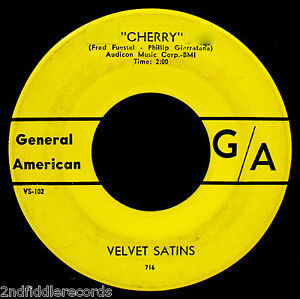 VELVET-SATINS-An-Angel-Like-You-Rare-Doo-Wop-Northern-Soul-45-GENERAL-AMERICAN