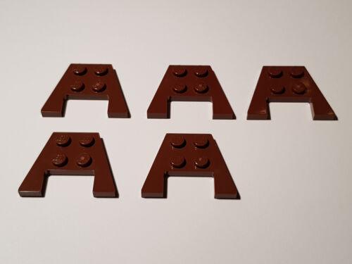 #F32 LEGO® 5 x 48183 Flügel Keil Platte 3 x 4 rotbraun mit Aussparung 6170527