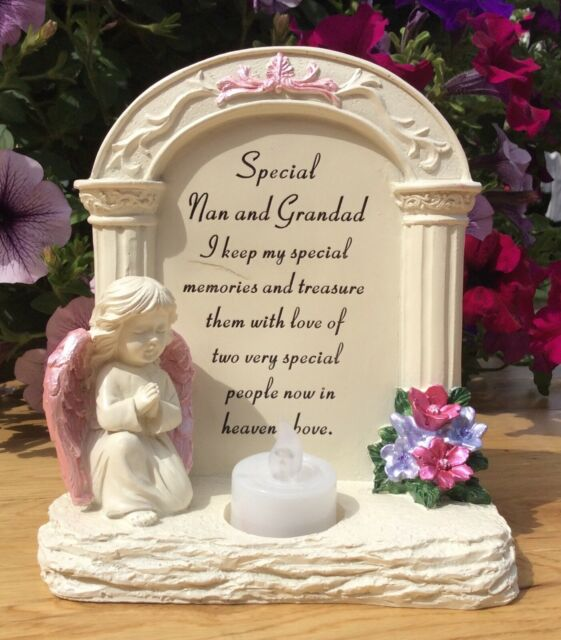 New Memorial stairway To Heaven Grave Plaque Stone Sentimental Verse Funeralcare