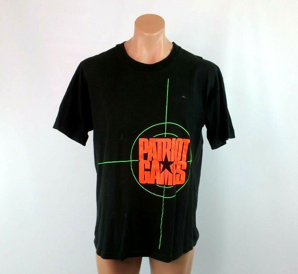 TG  90s Patriot Juegos Solo Puntada Tee thriller Promo de película Negro Camiseta XL  tienda de pescado para la venta