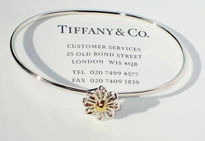 Tiffany-amp-Co-Paloma-Picasso-18Ct-18K-Yellow-Gold-Sterling-Silver-Daisy-Bangle