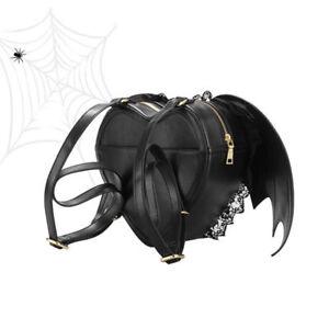 Murciélago De Tamaño Encaje Bolso Con Estilo Gótico Alas Mochila Ajustable 8IqX6