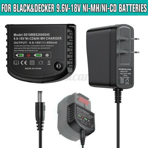 9.6V-18V Battery Charger for Black/&Decker HPB18 FSB18 12V 14.4V 18V NiCd