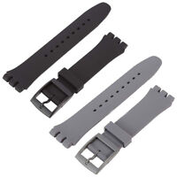 17mm Swatch Silicone Rubber Watch Band Strap Fit For Swatch Standard Gents