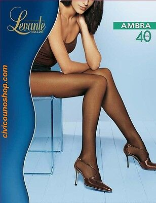 Levante Collant Donna Ambra Calze 40 DEN Linea Tuttonudo cucitura piatta