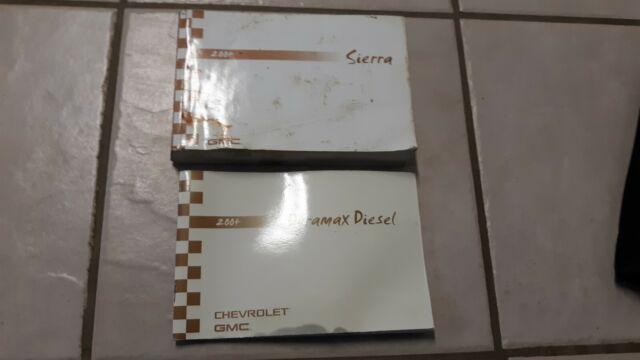 2004 Gmc Sierra 2500 Duramax Owners Manual Set