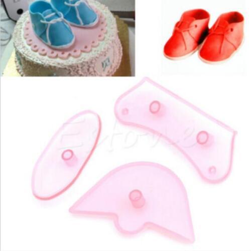 Silicone Chaussures de bébé Fondant moule chocolat bonbons moule gâteau Décor outil Y