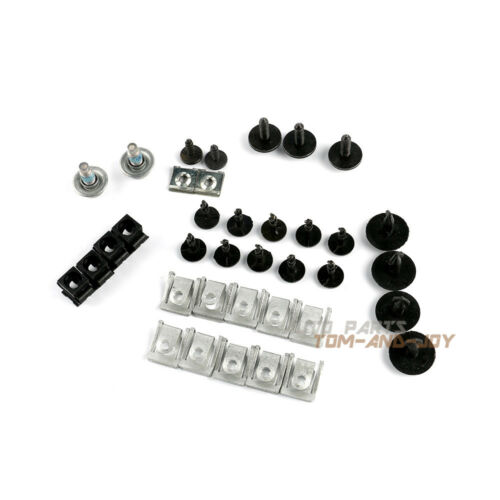 37Pcs Engine Protection Pan Hardware Kit Pin Clip Nut  For Audi A8 D4