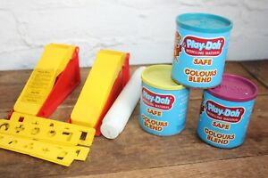 Play-Doh-Vintage-1970-039-s-PALITOY-Kenner-empty-containers-and-mould-toy